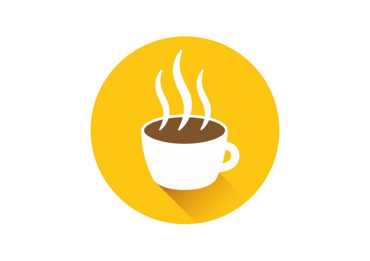 Flat Coffee Cup Icon