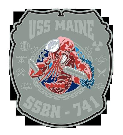 USS Maine SSBN-741 Navy Rate Shirt $17.76