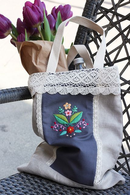check it out here: DIY Folk Flower Tote Bag