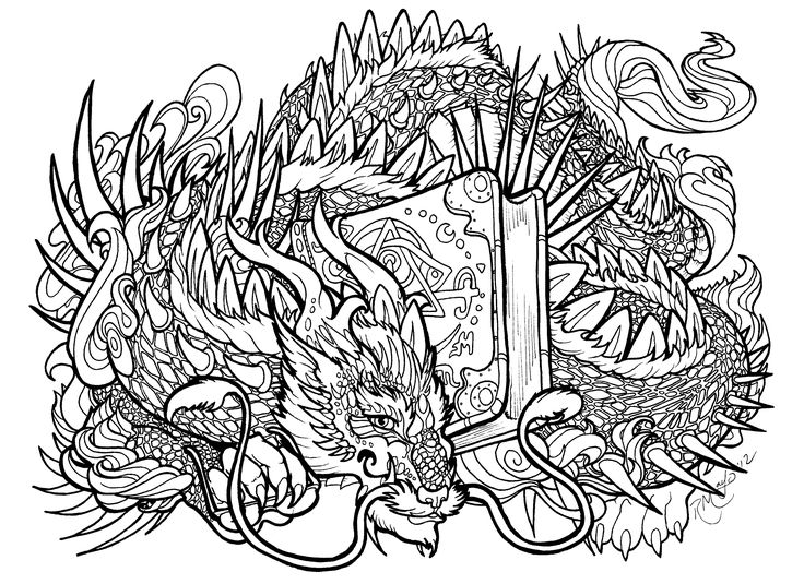 bookwyrm lineart by rachaelm5deviantartcom on deviantart adult coloring pagescoloring