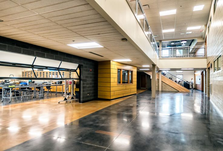 The Science Center Addition creates open, flexible learning labs that encourage cooperative/peer learning.