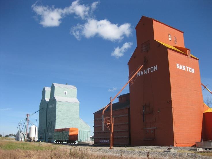 Grain Stores at Nanton, Alberta, Canada  (Photo by Anita, August 2011)