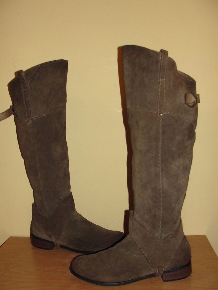 Restricted Shoes Women's Size 9.5 Brown Suede Leather Over-the-Knee Riding Boots #Restricted #RidingEquestrian #Casual