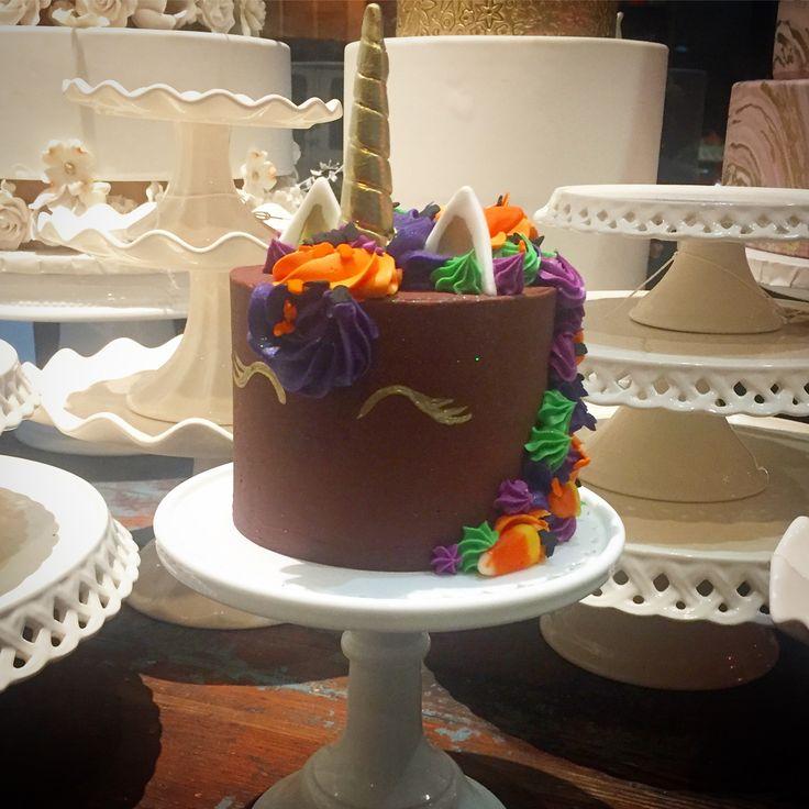 Chocolate mini unicorn cake
