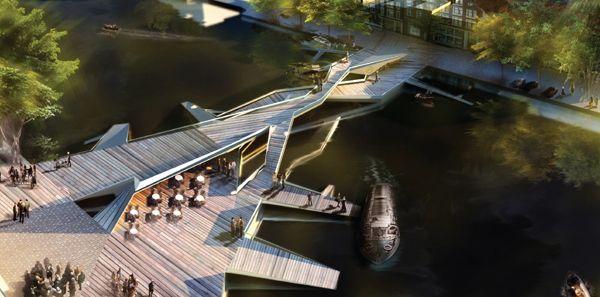 Iconic Pedestrian Bridge Competition | AC-CA : Mariana Popescu, Mihaela Radescu, Ovidiu Stanciu, Dimitrie Stefanescu