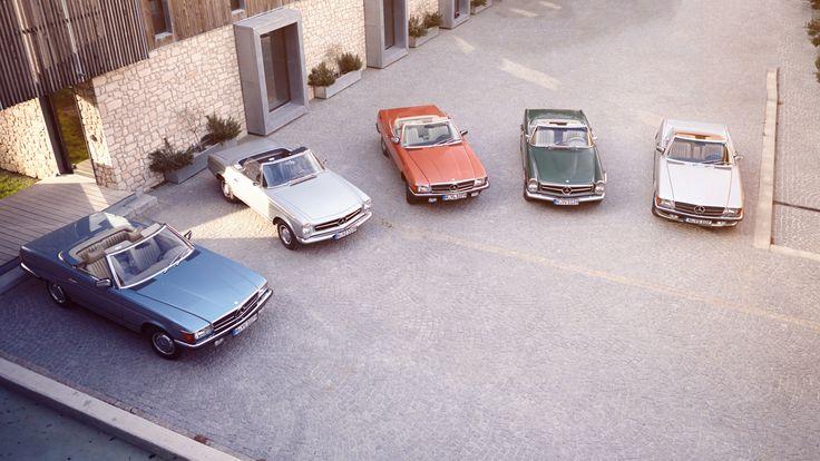 Mercedes-Benz R107 & W113 | Nostalgic Classic Car Travel
