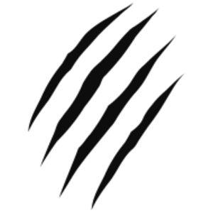 Claw Marks Design clip art
