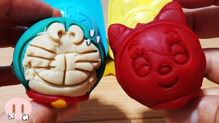 ドラえもん テレビアニメおもちゃ ねんど遊び ドラえもんの顔を作ってみよう♪ドラミちゃん ねんど 粘土遊び 型遊び 幼児 アンパンマンおかあさん...