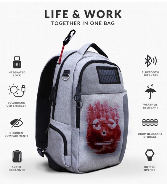 My nerdy solar powered backpack / Boing Boing