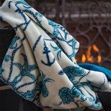 Mermaid and Anchor Micro Plush Throw Blanket