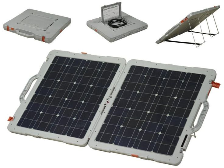 100 watt foldable solar panel, 12 volts, 5.5 amps.