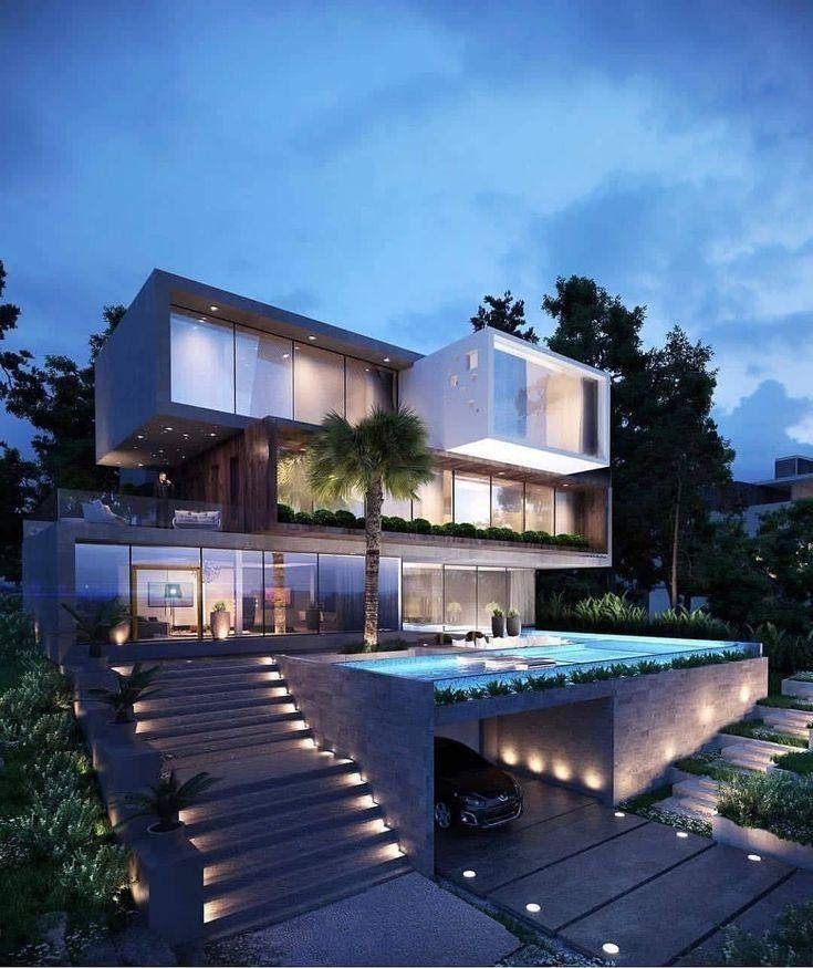 Top 30 Modern House Design Ideas En 2020 Casas De Lujo Casas Modernas De Lujo Fachadas De Casas Modernas