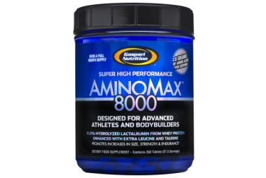 Gaspari Nutrition AminoMax 8000 350 tablets + Free Sample Price: WAS £35.99 NOW £29.20