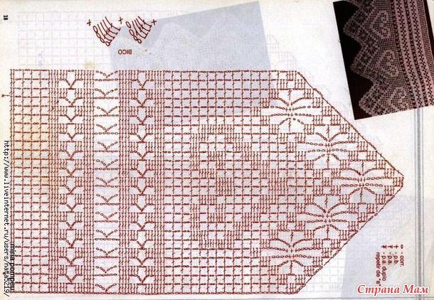 Узоры для филейного вязания часть 1