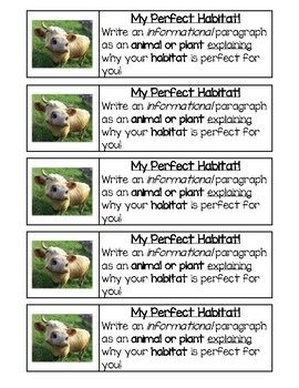 Georgia Regions / Habitats Writing Journal Prompts Great way to assess students' understanding of ecosystems, habitats, and animal adaptations through writing. Writing prompts are sized to fit in a black and white student composition book