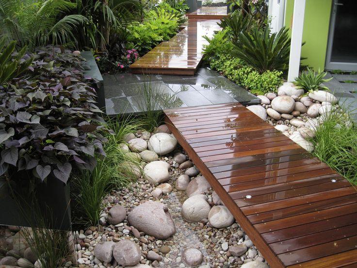 watercourse under a walkway