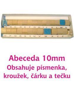 Razítka písmena 10 mm