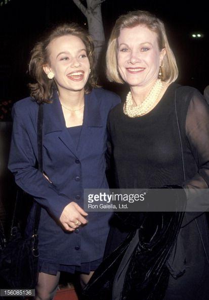 Samantha Mathis and her mother actress Bibi Besch (Steel Magnolias)