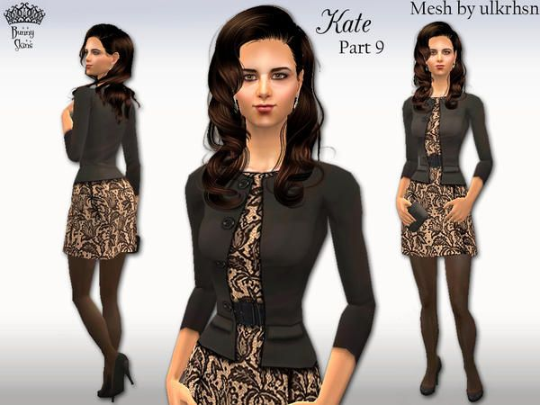 Sims 2 black dress outfits