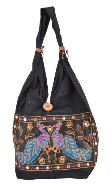 Vintage Tote Bags & Shoppers – Fashionable Travel Bag // Folding Travel Bag – a unique product by IndianCraftPalace on DaWanda