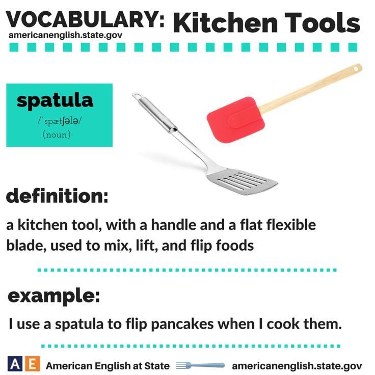 Vocabulary: Kitchen Tools - spatula