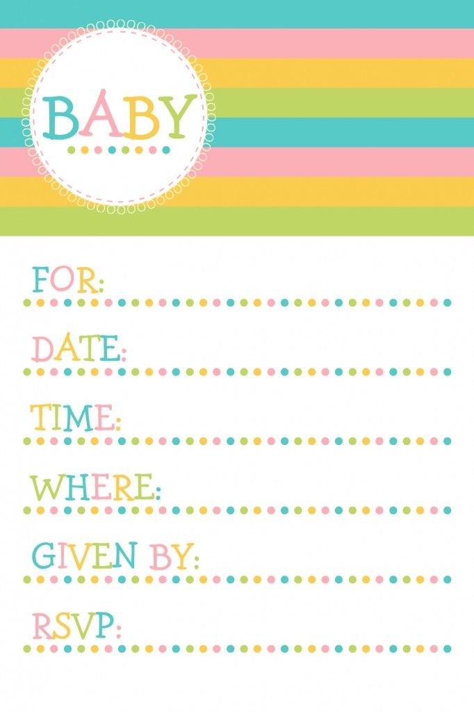 11 best Free Printable Baby Shower Invitations images – Free Baby Shower Invitation Cards