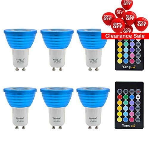 #savebig 3W #Dimmable #GU10 RGB Color Changing LED Spotlight Light Bulbs with Remote Control (1) Uniform lighting effect 3W RGB Spotlight is the improved product ...