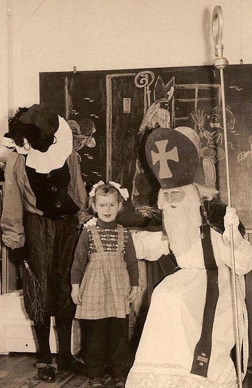 Zwarte Piet en Sinterklaas, Oosterpoort Groningen 1960