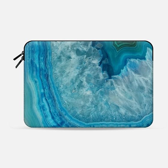 Agate bleue - Macbook Sleeve