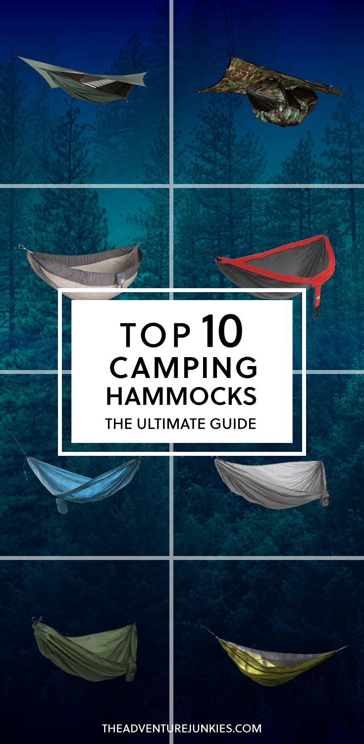 Top 10 Best Camping Hammocks – Best Camping Gear – Hiking Gear For Beginners – Backpacking Equipment List for Women, Men and Kids