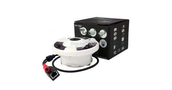 5 megapíxeles hd fisheye 360 degree vista panorámica CCTV cámara de seguridad ip con Virtual función PTZ