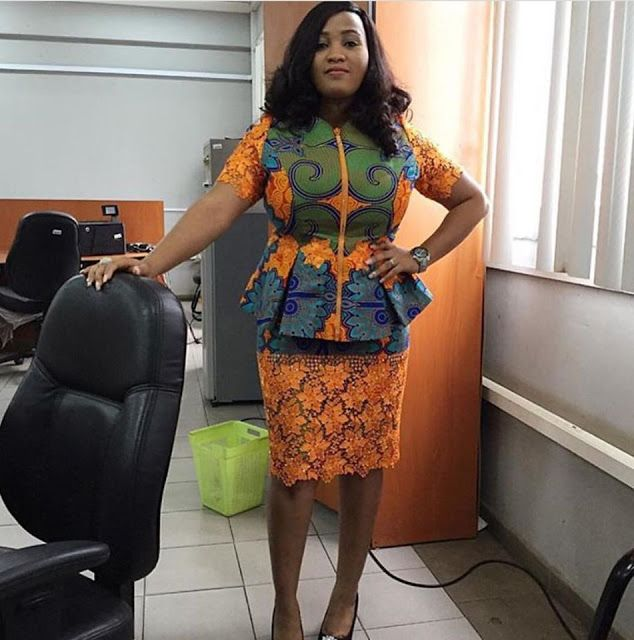 Ankara Blouse and Skirt Styles for Office Madam - DeZango Fashion Zone