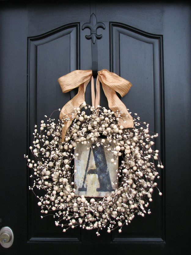 Personalized Wreath | Community Post: 15 Handmade Gifts For Mother's Day That You Don't Have To Make With Your Hands