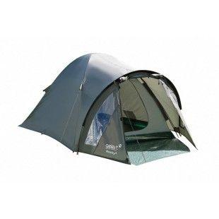 Tente 2 places Gelert avec porche Rocky 2 Olive
