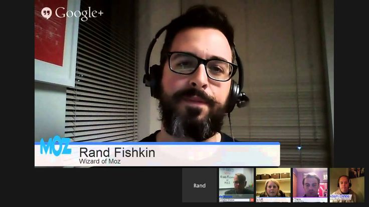 very special Google Hangout with Rand Fishkin, founder of MOZ.com.  Rand is a highly sought after speaker and a true thought leader of SEO.  His White Board Friday sessions are essential viewing for anyone involved in SEO and digital marketing.