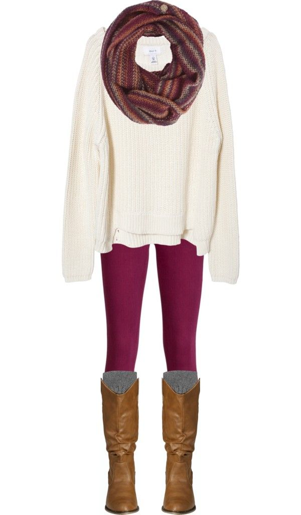 """Sweaters, Scarves, & Skinnies, Oh My!"" by qtpiekelso on Polyvore"