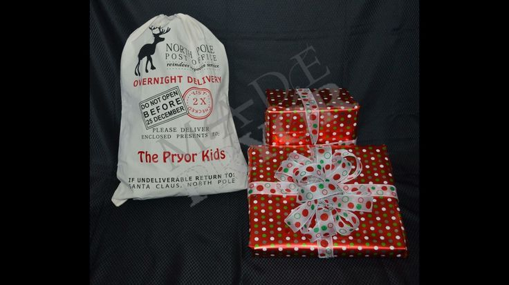 A personal favourite from my Etsy shop https://www.etsy.com/au/listing/246898233/christmas-personalised-santa-sack