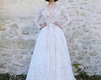 Wedding dress OLIVIA, long sleeve wedding dress, boho wedding dress, fairy wedding dress, dress wedding, wedding, beach wedding dress