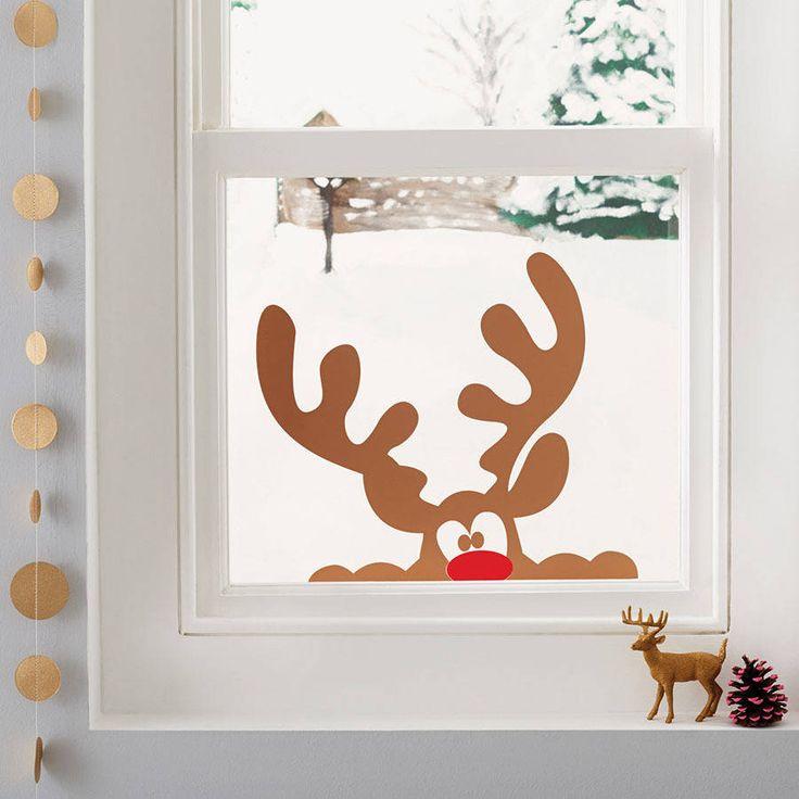 Algunas ideas muy sencillas para que nuestras ventanas también se vistan de Navidad.