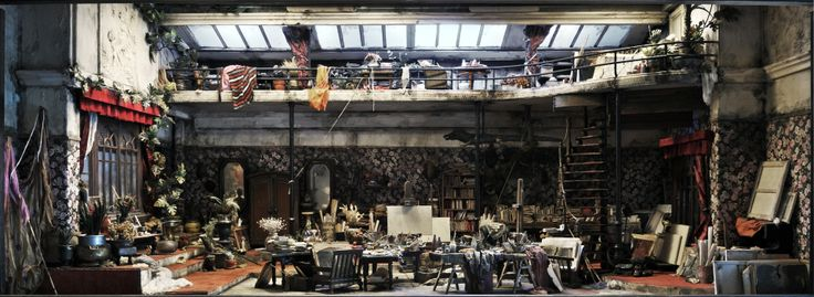 This is the beautifully bohemian (and slightly mad) small world of French artist Ronan-Jim Sevellec. At 80 years of age, his most recent exposition was in 2012 and saw his boxes of tiny artist's workshops and old antique rooms displayed in various eccentric and romantic locations around Paris