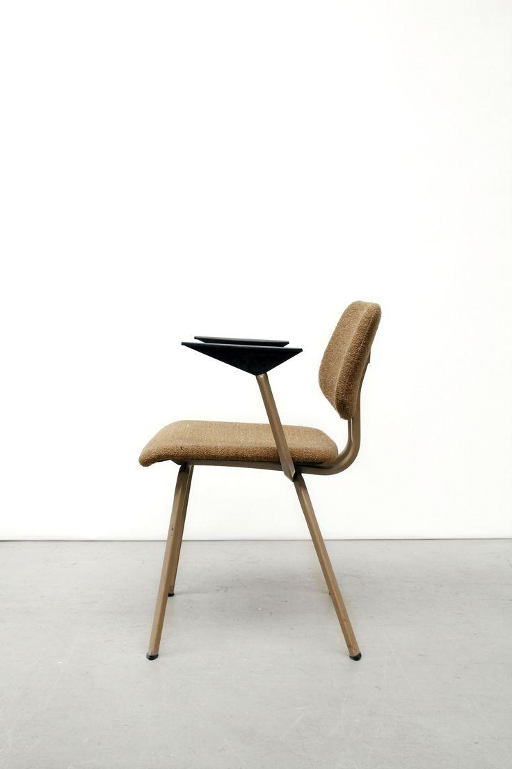 Friso Kramer; Enameled Metal Armchair for De Cirkel, c1960.