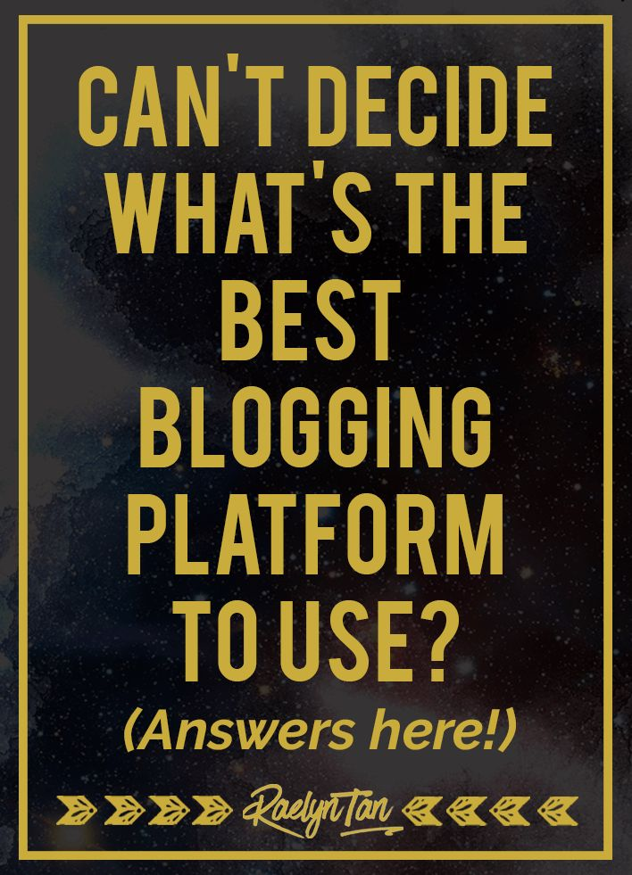 Wondering what's the best blogging platform for you to use? This is a perfect guide for newbie bloggers who are just starting out! #blogging #blogger
