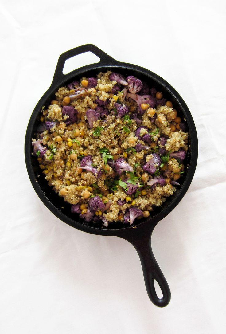 Quinoa, Purple Cauliflower, and Chickpea Bowl — Bacon Egg & Cheese{cake}
