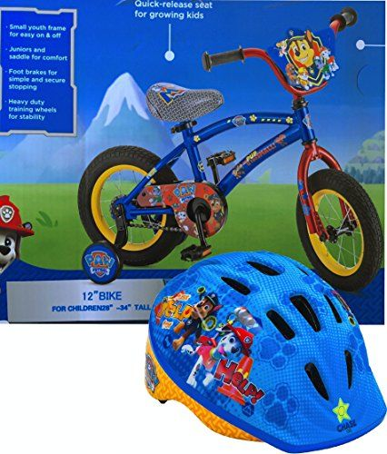 Childrens Bike Featuring Paw Patrol 12 Inch Bike with Paw Patrol Safe Bike Helmet Age 35 -- For more information, visit image link. This is an Amazon Affiliate links.