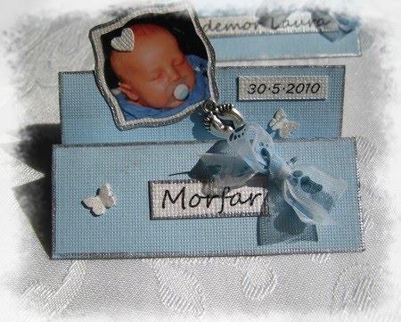 . Mariannes hobbyhage / Playpen: Bordkort til dåp - i z fasong
