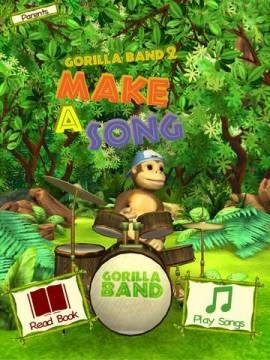 New app for kids - Make A Song by Gorilla Band 2 - 3D story book with Music