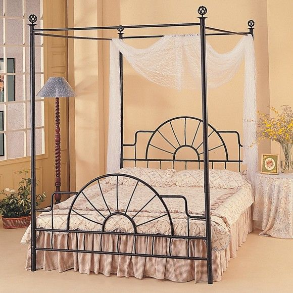 affordable black cast iron canopy bed with upholstered headboard and white bedding idea fabulous cast iron bed frame with inviting features designs