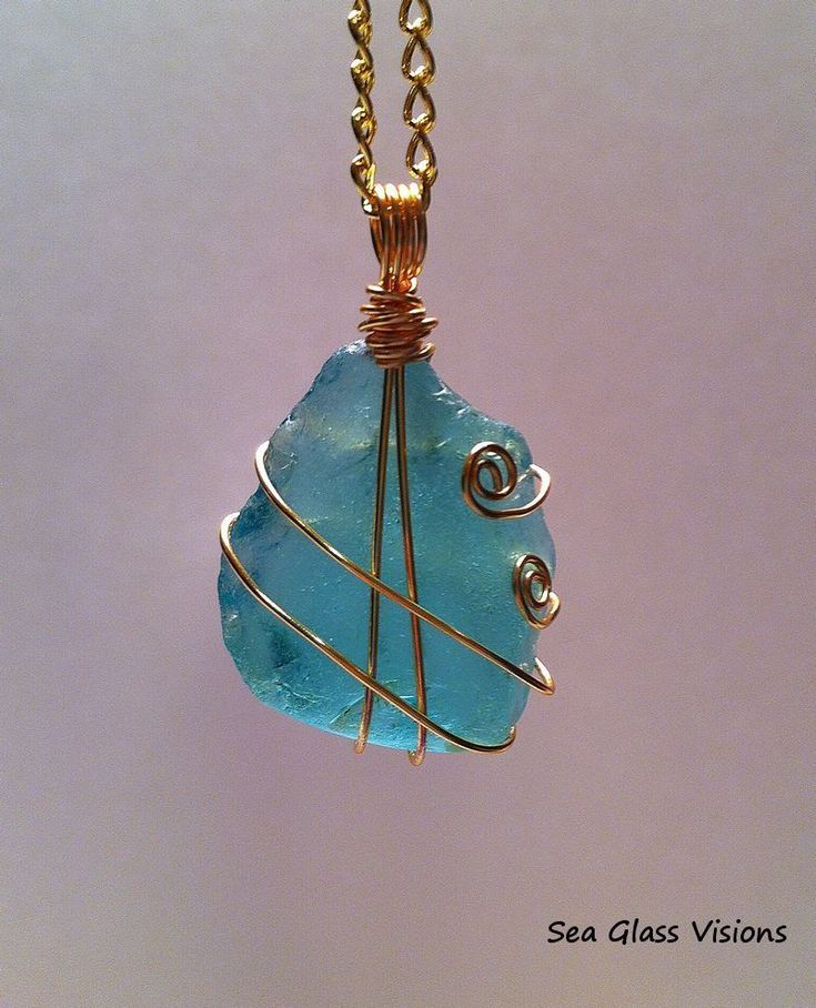 I started by doing an online search about how to wire wrap sea glass. There are lots of different instructional videos on you tube. #howtomakeseaglass #seaglassjewelry