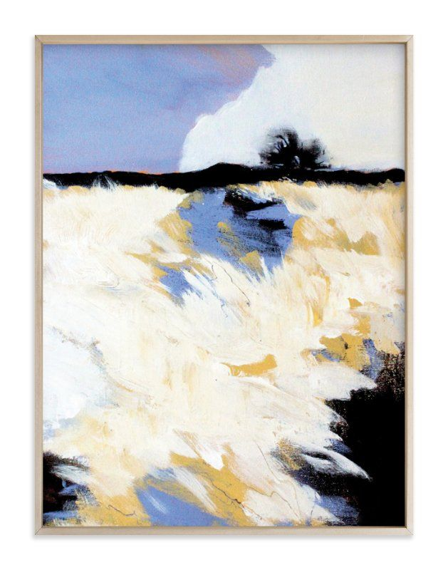 """""""Snowscape 1"""" - Art Print by Megan Kelley in beautiful frame options and a variety of sizes."""