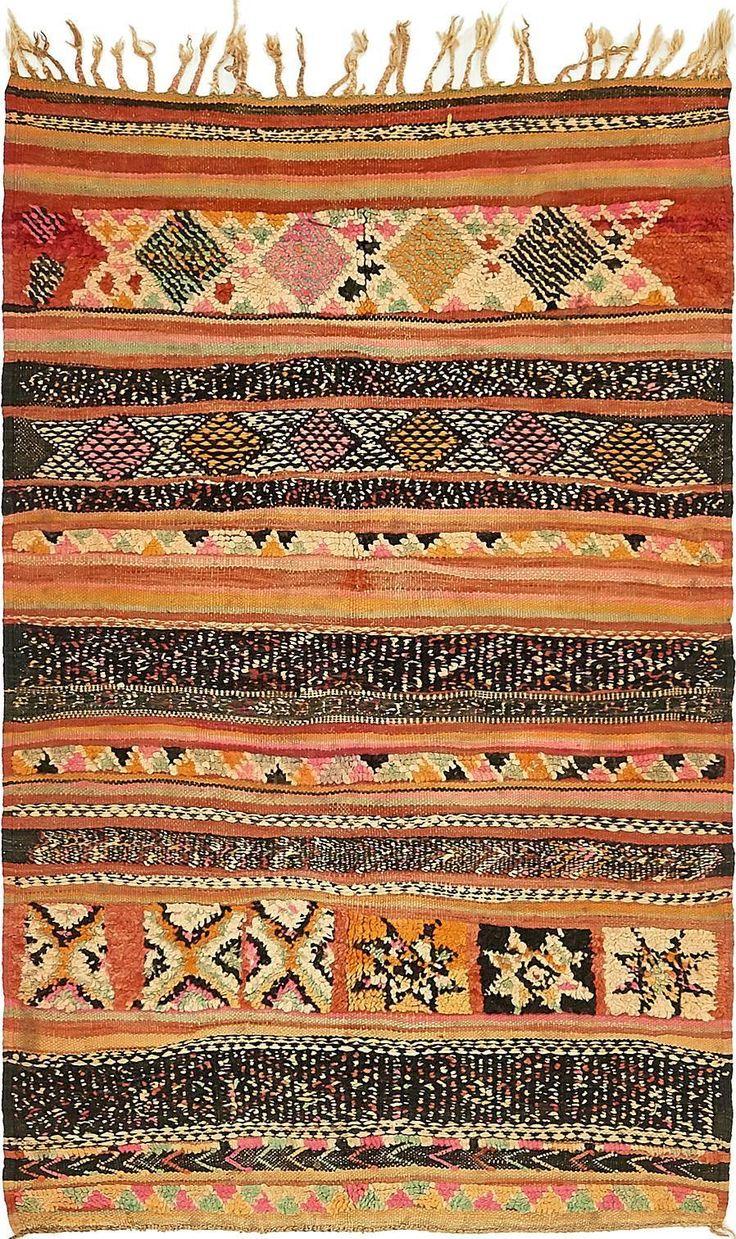 Orange 3' 6 x 5' 7 Moroccan Rug | Oriental Rugs | eSaleRugs